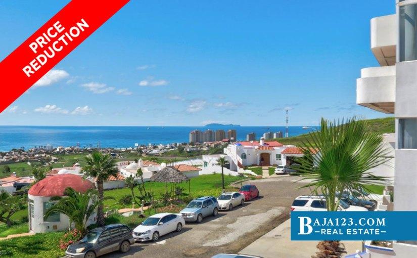 Ocean View Condo For Sale in Costa de Oro, Rosarito Beach – USD $159,000