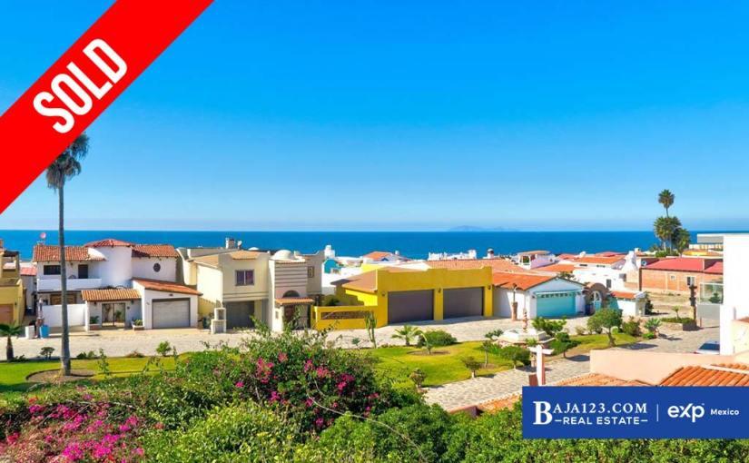 SOLD – Ocean View Home For Sale in Castillos del Mar, Playas de Rosarito – $150,000 USD