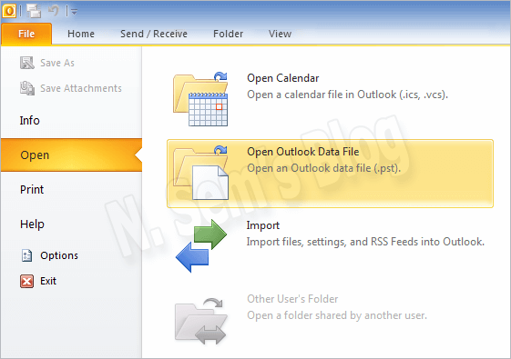 merge PST files in Outlook 2010