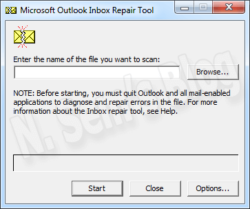 Inbox Repair tool (SCANPST.EXE)