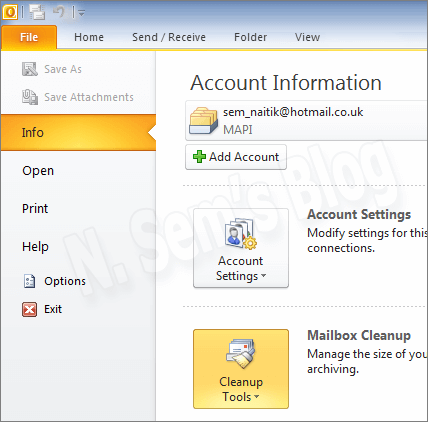 how to create archive pst file in outlook 2013