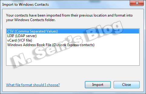 import CSV contacts (step-11)