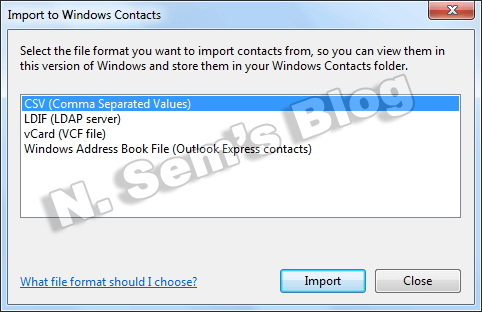 import CSV contacts (step-3)