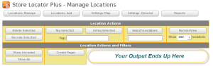 Manage Locations Action Box