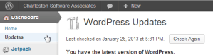 wordpress force updates