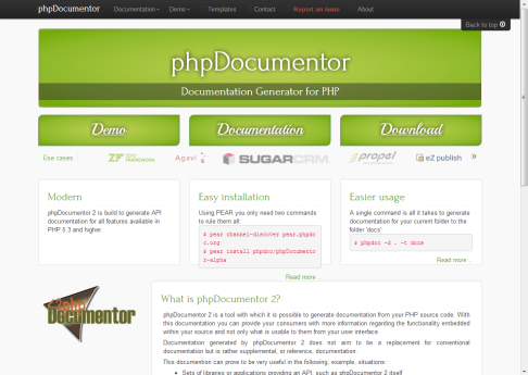 phpdoc website