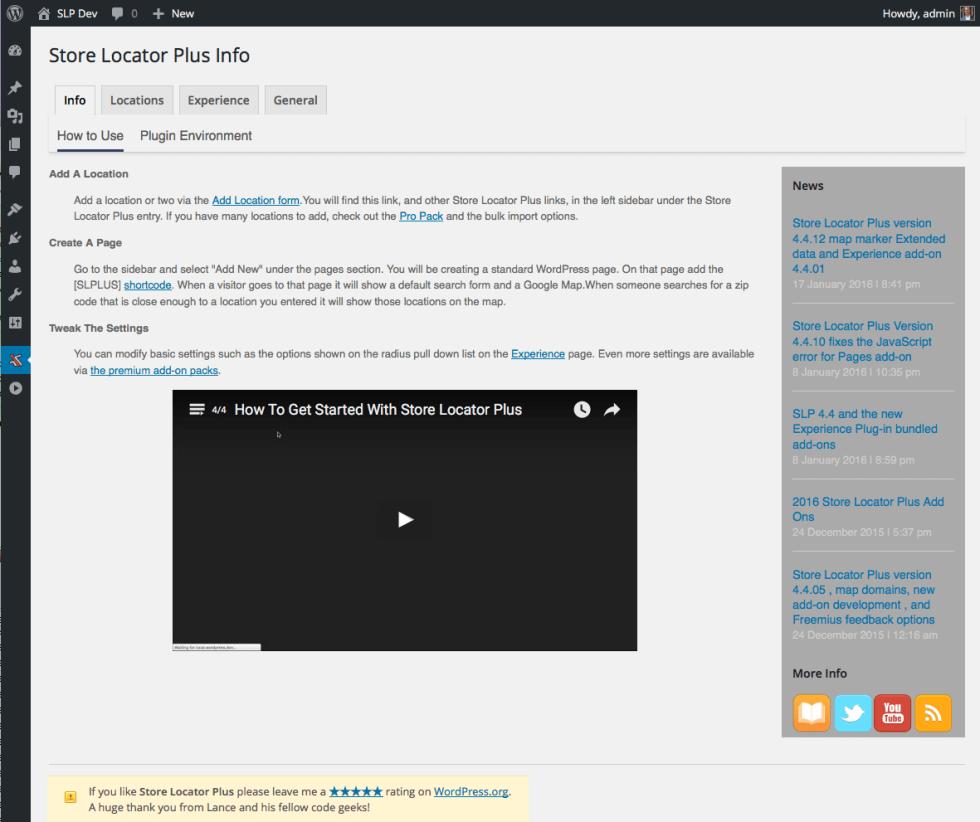 SLP 4.4.14 Info Tab