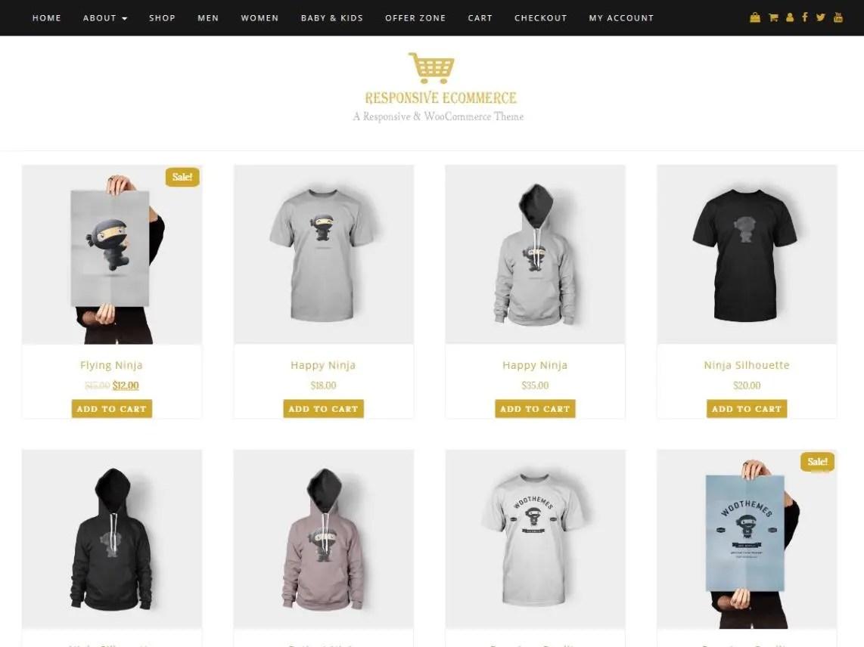Responsive eCommerce - WordPress Theme