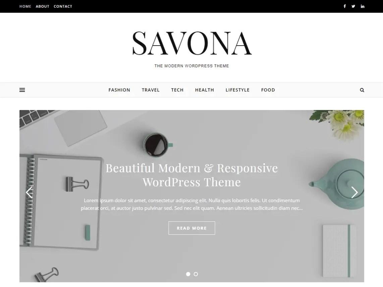 Savona multipurpose WordPress theme