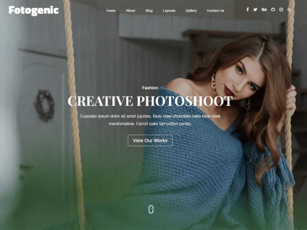 Fotogenic Tema wordpress per fotografi