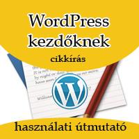 Cikkírás WordPressben