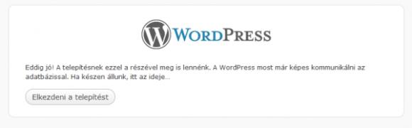 worWordPress telepítése lépésről-lépésre - 4. rész