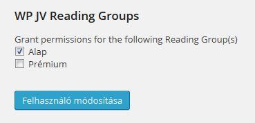 WP JV Post Reading Groups-beallitas