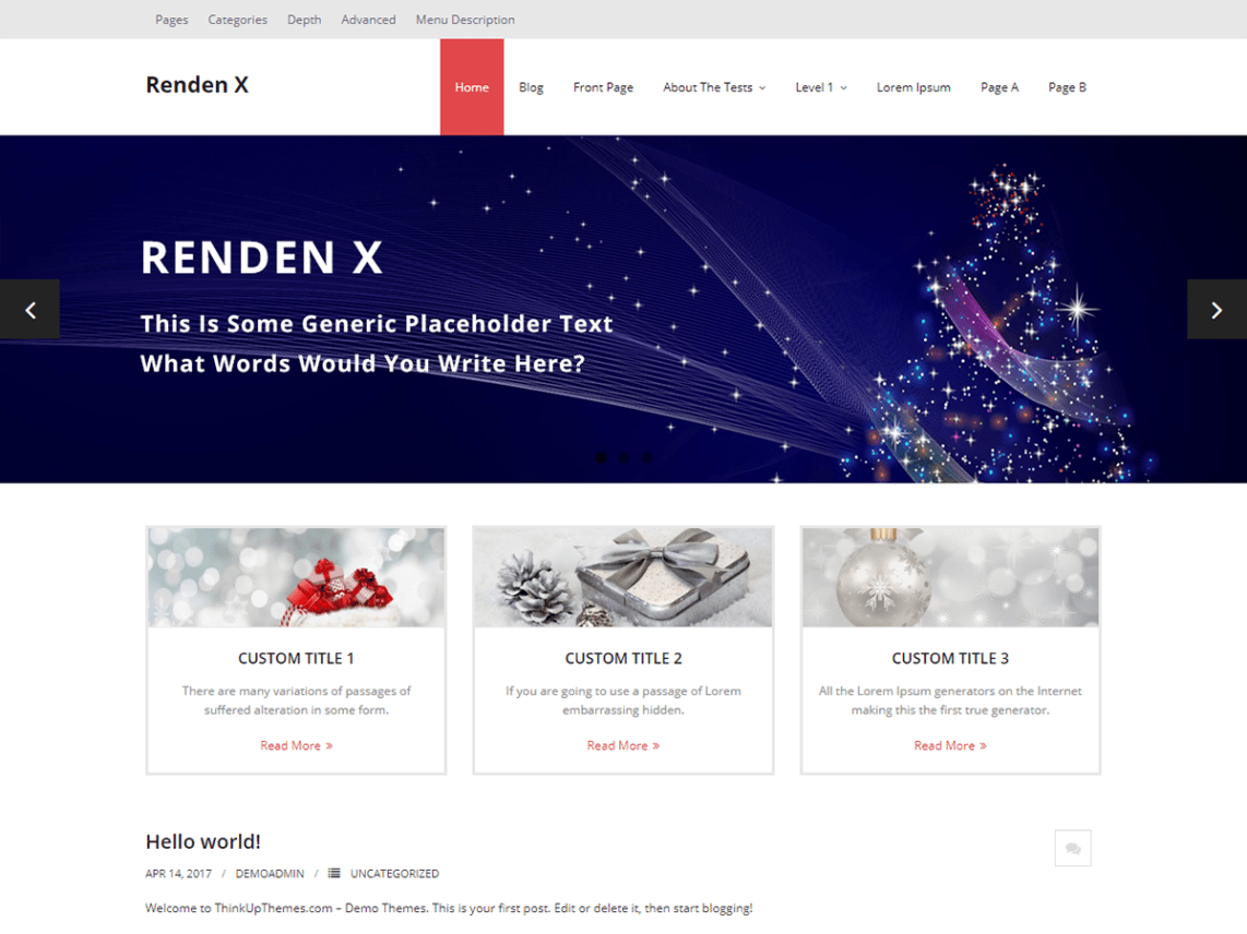 Renden X WordPress Theme