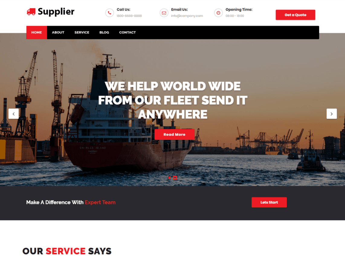Supplier WordPress Theme