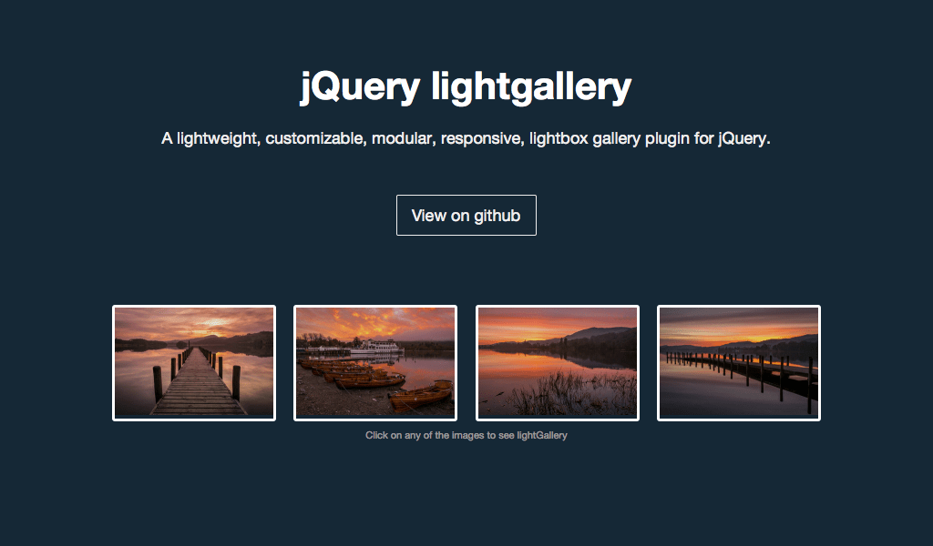 light gallery jQuery plugin