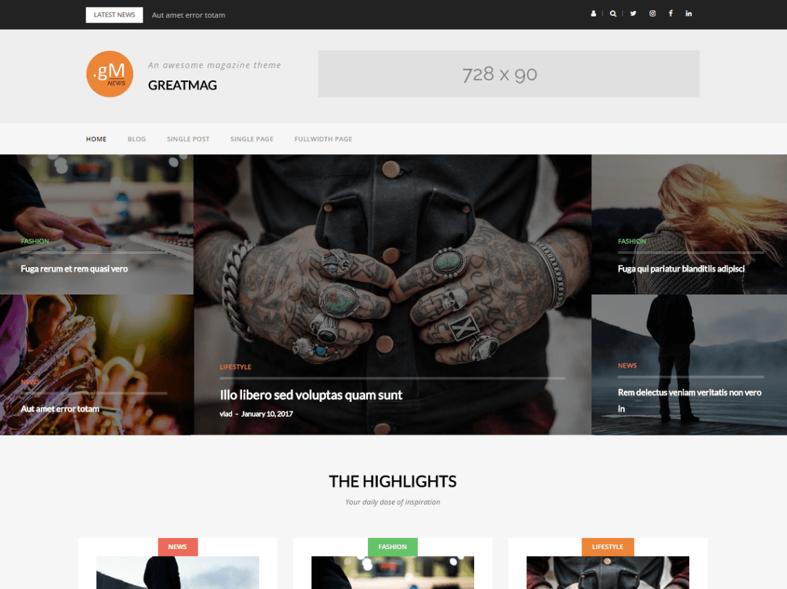 greatmag news wordpress theme