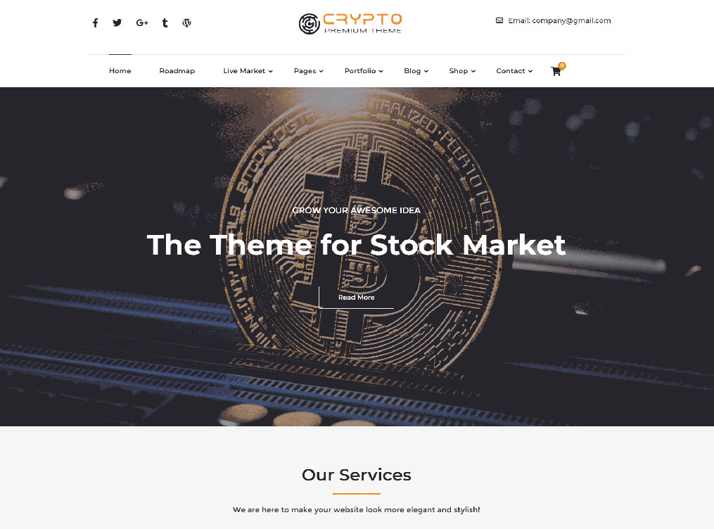 Crypto Premium - Premium WordPress Theme For Cryptocurrency