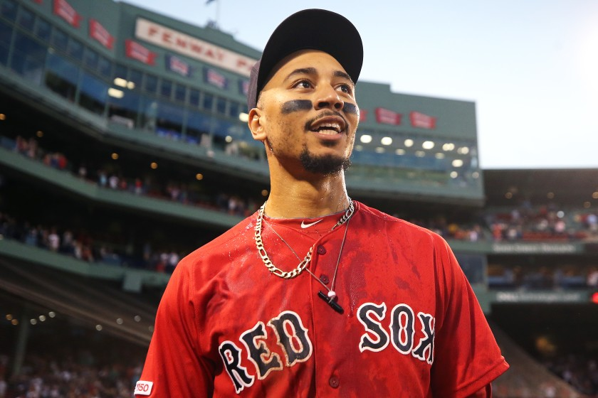Mookie Betts at Fenway Park
