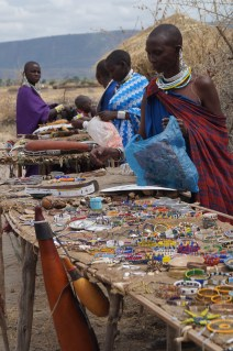 Maasai stalls.
