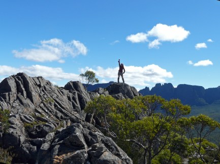 The author atop the Traveller Range, summer