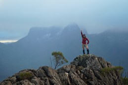 The author atop the Traveller Range, winter