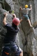 Climbing on Cat Ba