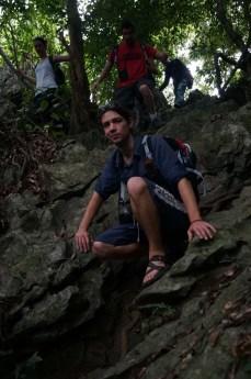 Rock scramble, Cat Ba National Park
