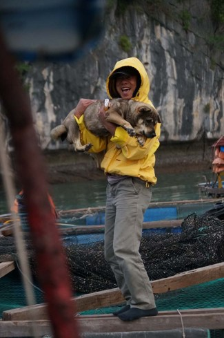 Our boat driver and his dog, Lan Ha Bay