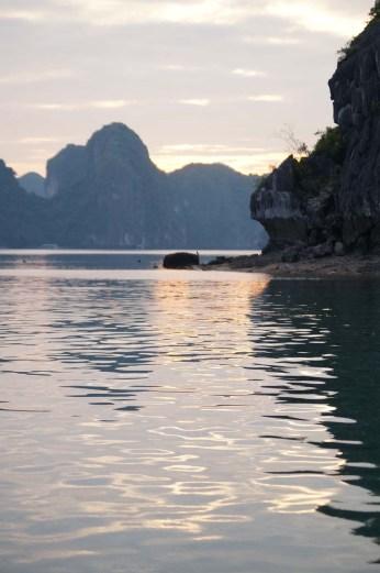 Sunset in Lan Ha Bay