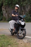 Nick on our bike