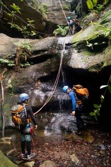 Serendipity, waterfall abseil