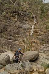 View up second waterfall, Bungonia