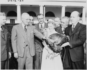 President Truman with a Turkey