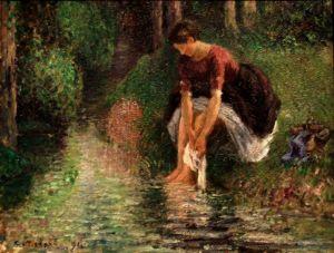 By French artist Camille Pissarro. courtesy Wikimedia