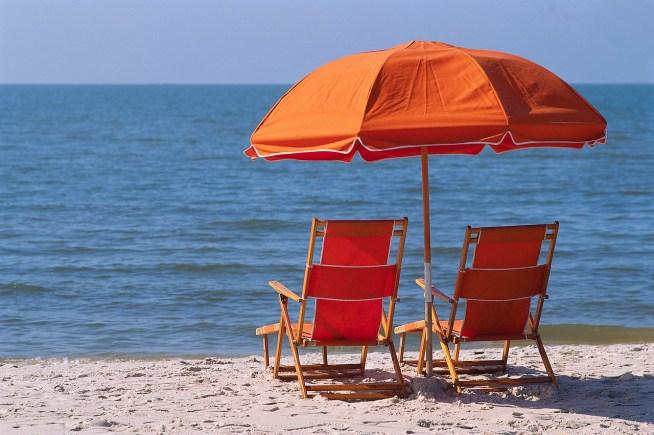 Beach Chairs Watching Ocean