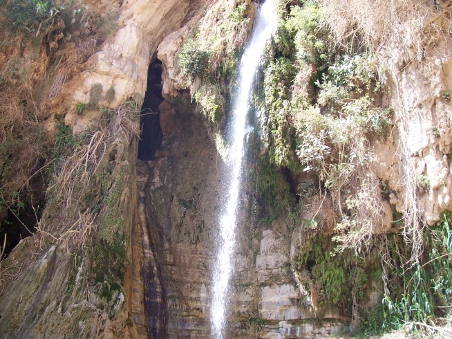 Water fall at En Gedi, Israel