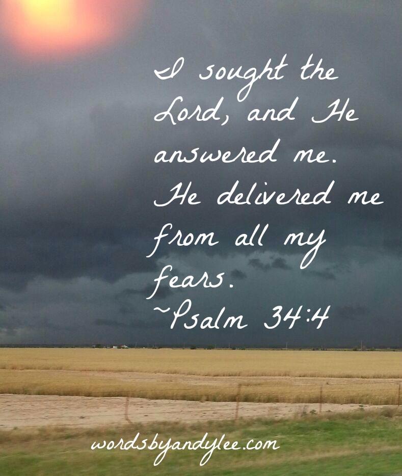 Stormy Texas Sky Psalm 34