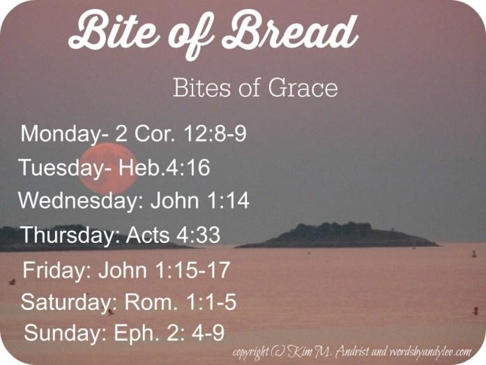 bite of bread of Grace
