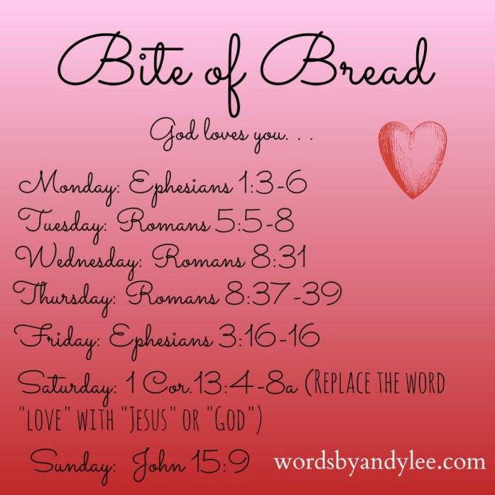Bite of Bread God loves you