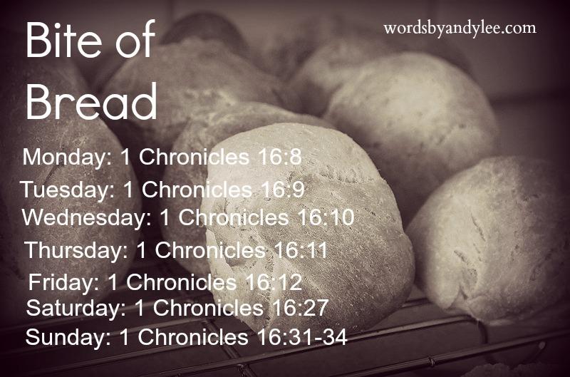 Bite of Bread 1 Chron. 16