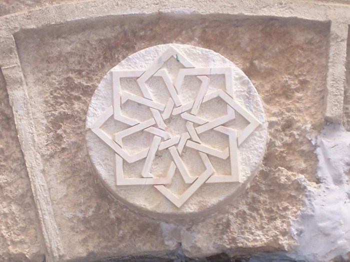 Star of David over a Jewish storefront in Israel