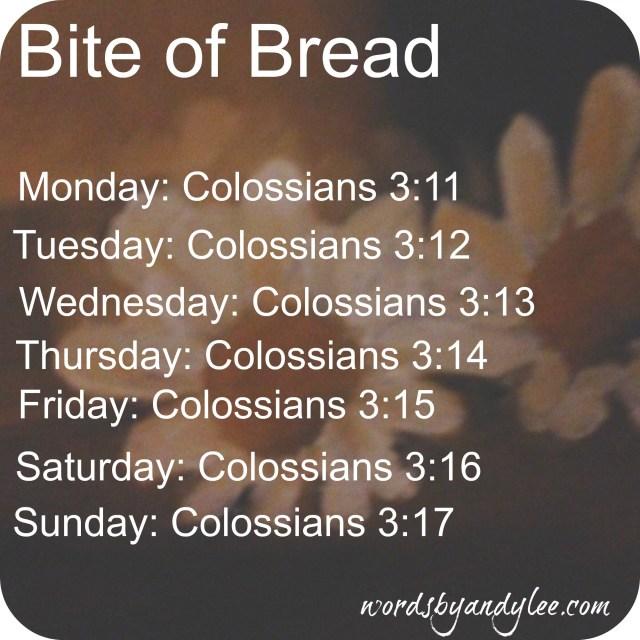 Bite of Bread Holy living