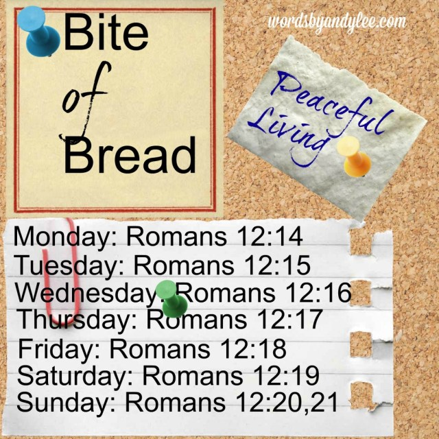 Bite of Bread Romans Peaceful living