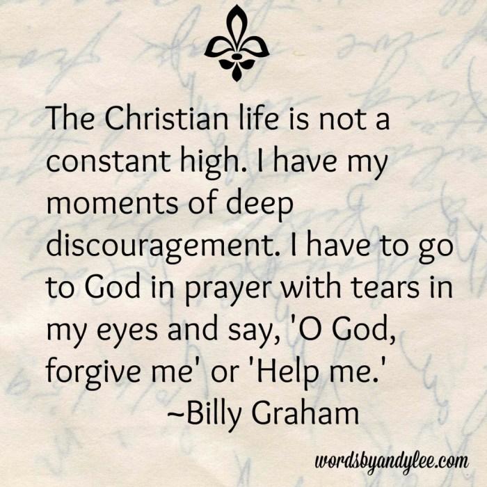 Billy Graham quote on discouragement