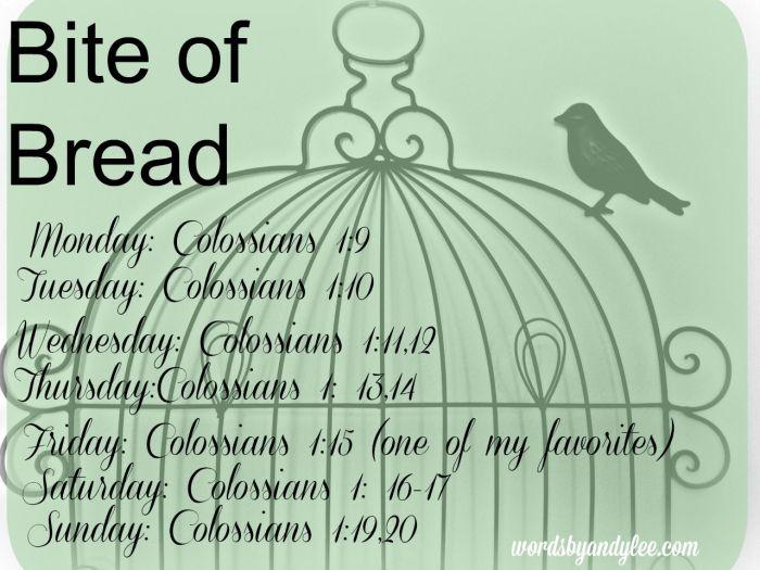 Bite of Bread Colossians 1