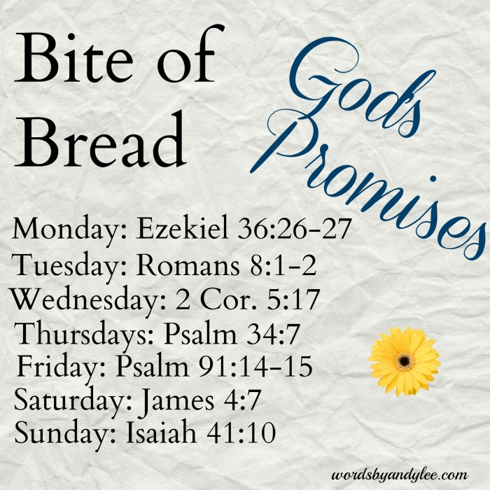 bite of bread Gods promises