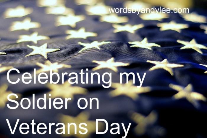 Celebrating my soldier