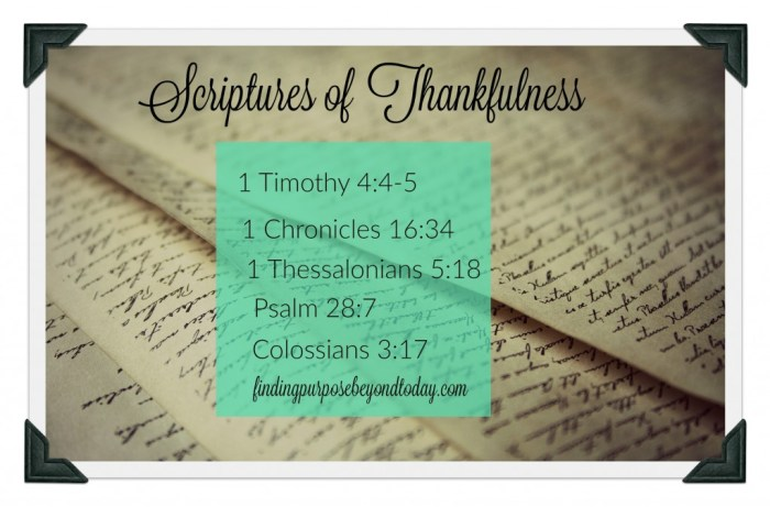 Scriptures of Thankfulness II