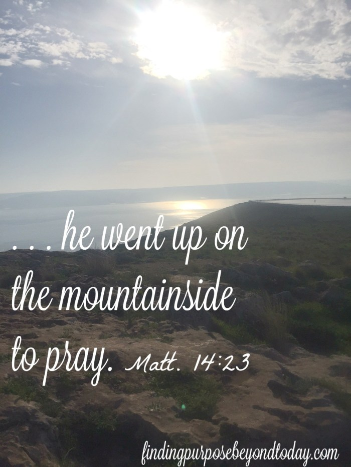 He went to pray